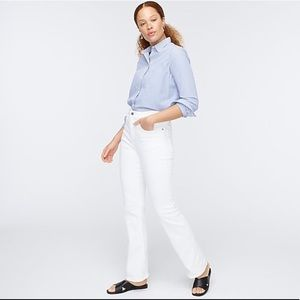 J. Crew Curvy Full-Length Bootcut Jean in White